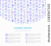 laundry service concept with... | Shutterstock .eps vector #1183567102