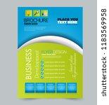 flyer template. design for a...   Shutterstock .eps vector #1183569958