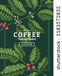 Vintage Coffee Leaf...