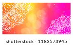 vintage card with patterns of... | Shutterstock .eps vector #1183573945