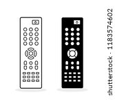 remote control. flat icon. two... | Shutterstock .eps vector #1183574602