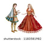 beautiful prince and princess ... | Shutterstock . vector #1183581982