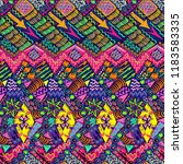 tribal pattern. aztec fabric.... | Shutterstock .eps vector #1183583335