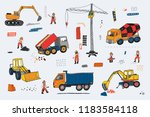 building people and... | Shutterstock . vector #1183584118
