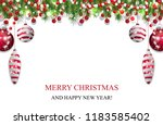 christmas background  new year... | Shutterstock .eps vector #1183585402