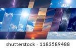 weather forecast background ... | Shutterstock . vector #1183589488