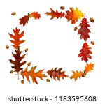 frame of beautiful autumnal red ... | Shutterstock . vector #1183595608