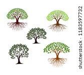 tree vector icon set | Shutterstock .eps vector #1183597732