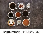 cup of delicious hot coffee...   Shutterstock . vector #1183599232