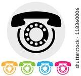 phone icon | Shutterstock .eps vector #118360006