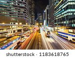 view of the evening city... | Shutterstock . vector #1183618765
