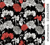 seamless pattern with white... | Shutterstock .eps vector #1183620508