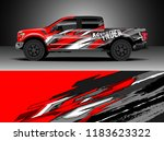 pick up truck  decal wrap... | Shutterstock .eps vector #1183623322