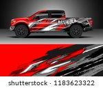 pick up truck  decal wrap... | Shutterstock .eps vector #1183623322