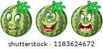 watermelon. fruit food concept. ... | Shutterstock .eps vector #1183624672