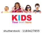 children's group with... | Shutterstock . vector #1183627855