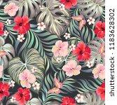 tropical seamless vector... | Shutterstock .eps vector #1183628302