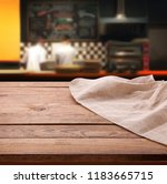 empty wooden table with... | Shutterstock . vector #1183665715