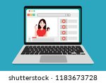 online education with influence ... | Shutterstock .eps vector #1183673728