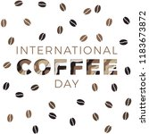 international coffee day banner ...   Shutterstock .eps vector #1183673872