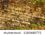 rock layers in mountains.... | Shutterstock . vector #1183680772