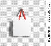 white paper shopping bag with... | Shutterstock .eps vector #1183683472
