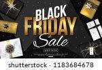 vector black friday sale banner ... | Shutterstock .eps vector #1183684678
