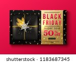 vector black friday sale banner ... | Shutterstock .eps vector #1183687345