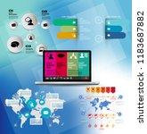 infographic vector elements for ... | Shutterstock .eps vector #1183687882
