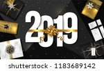 2019 happy new year background. ... | Shutterstock .eps vector #1183689142