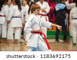 guy karate does kata at the... | Shutterstock . vector #1183692175