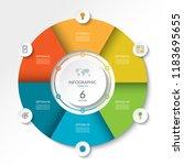 circular infographic flow chart.... | Shutterstock .eps vector #1183695655