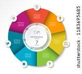 circular infographic flow chart.... | Shutterstock .eps vector #1183695685