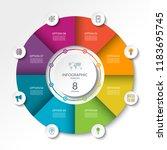 circular infographic flow chart.... | Shutterstock .eps vector #1183695745