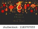 vector hand draw design for... | Shutterstock .eps vector #1183707055