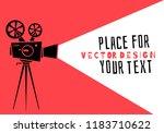 cinema.silhouette movie... | Shutterstock .eps vector #1183710622