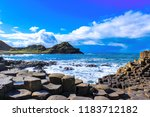 the giant's causeway is an area ...   Shutterstock . vector #1183712182