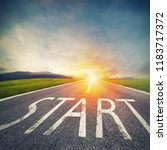 start written to the ground on... | Shutterstock . vector #1183717372