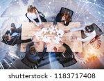 teamwork of partners. concept... | Shutterstock . vector #1183717408
