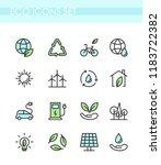 vector illustration set of eco... | Shutterstock .eps vector #1183722382