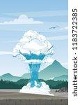 vector illustration of geyser...   Shutterstock .eps vector #1183722385