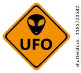 danger road signs ufo | Shutterstock .eps vector #1183723582