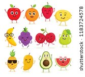 vector collection of cute... | Shutterstock .eps vector #1183724578