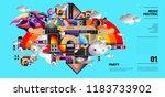 music festival illustration... | Shutterstock .eps vector #1183733902