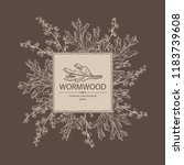 background with wormwood ... | Shutterstock .eps vector #1183739608
