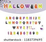 halloween slimy font for kids.... | Shutterstock .eps vector #1183739695