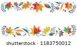 autumn leaves in cartoon style. ... | Shutterstock .eps vector #1183750012
