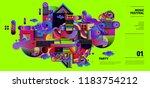 music festival illustration... | Shutterstock .eps vector #1183754212