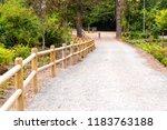 footpath in botanical garden  | Shutterstock . vector #1183763188