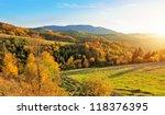 mountain autumn landscape with...   Shutterstock . vector #118376395